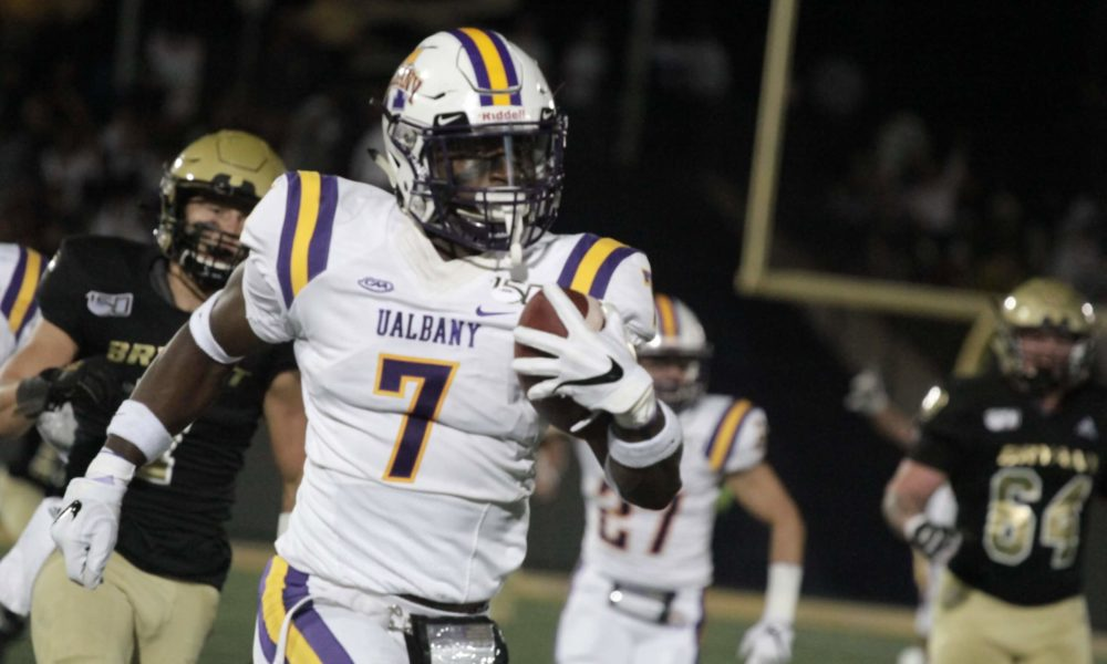 premium selection 22e96 314bf UAlbany Great Danes Destroy The Bryant Bulldogs 45-3 ...